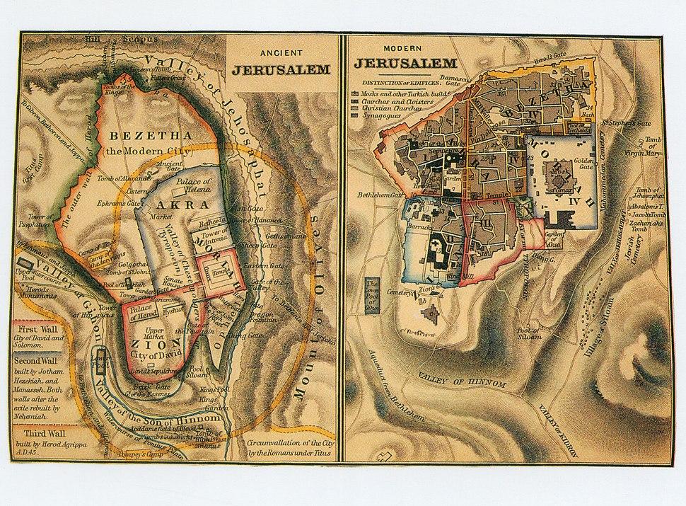Ancient Jerusalem Modern Jerusalem