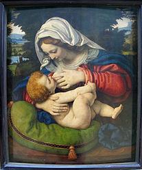 Андрэа Саларыа: Madonna of the Green Cushion