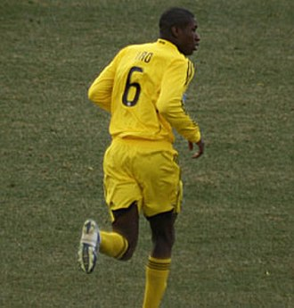 Andy Iro - Iro making his professional debut with Columbus Crew, 29 March 2008.
