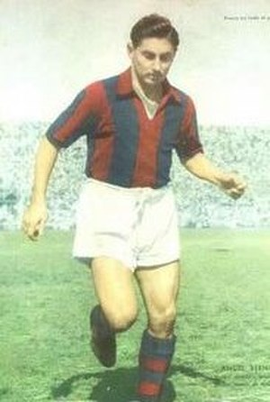 Ángel Berni - Berni playing for San Lorenzo in 1955