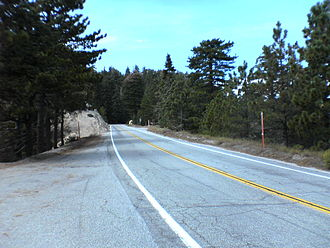 Angeles Crest Highway - The Angeles Crest Highway in the Angeles National Forest