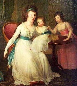 John Tayloe III - Ann Ogle (Mrs. John Tayloe III) and daughters Rebecca and Henrietta in 1799