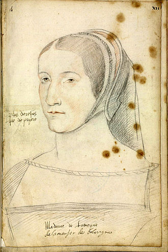 Anne de La Tour d'Auvergne - A contemporary portrait of Anne de la Tour d'Auvergne