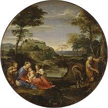Rast auf der Flucht nach Ägypten, um 1604, Eremitage (Sankt Petersburg) (Quelle: Wikimedia)