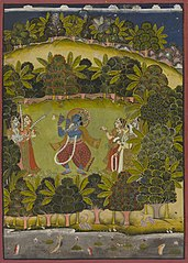 Krishna Fluting for the Gopis