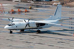 1985 Bakhtar Afghan Airlines Antonov An-26 shootdown - An An-26B similar to the accident aircraft