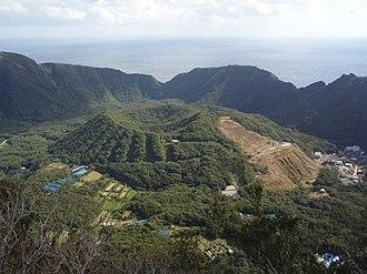 Aogashima - Maruyama in a close view