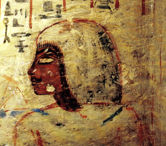 Bubasteum - Wall painting from the tomb of Aperel