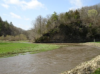 Apple River (Illinois) - The confluence of the South Fork Apple River and the Apple River within Apple River Canyon State Park