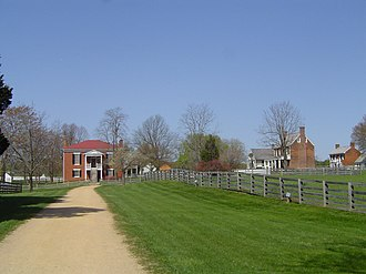 Appomattox Court House National Historical Park - Appomattox Court House National Historical Park. The Old Appomattox Court House is at left; the reconstructed McLean House, the site of the formal surrender, is at right.