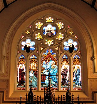 Sacred Heart Cathedral (Davenport, Iowa) - The Sacred Heart window in the apse