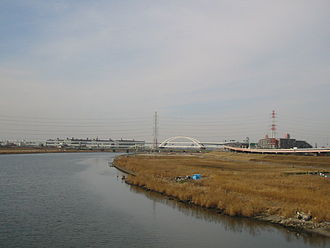 Arakawa River (Kantō) - A bend in the Arakawa River