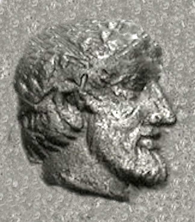 Archeptolis portrait from his coinage