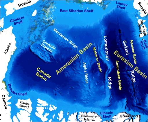 Arctic Ocean bathymetric features