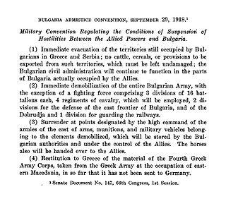 Armistice of Salonica