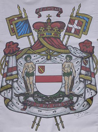 House of Bethune - Princely arms of Béthune-Hesdigneul