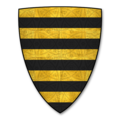 Armorial Bearings of the BOTEVILE family of Thynne, Bodenham, Herefordshire.png