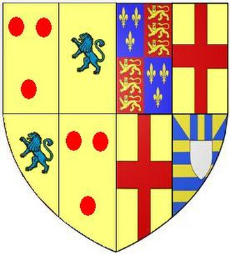 Catherine of York - Image: Arms Of William Courtenay 10th Earl Of Devon Tiverton Church
