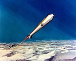Artist's concept of an anti-satellite missile (ASAT) after launch from an F-15 Eagle aircraft.jpeg
