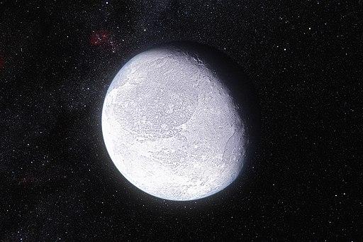Artist's impression dwarf planet Eris