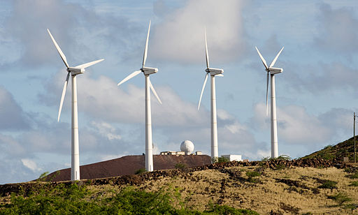 Ascension island turbines