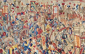 Conquest of Asilah - The Portuguese assault on Asilah depicted on a 15th century tapestry.