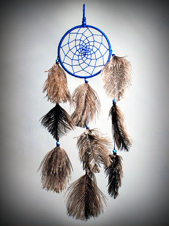 "Dreamcatcher - Contemporary ""dreamcatcher"" sold at a craft fair in El Quisco, Chile in 2006."