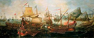 Battle of Sesimbra Bay - Battle of Sesimbra Bay 1602 by Hendrick Cornelisz Vroom