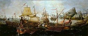 Battle of Sesimbra Bay - Battle of Sesimbra Bay 1602 by Hendrick Cornelisz Vroom