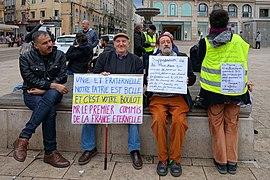 Au départ de la manifestation Gilets jaunes acte XVII à Saint-Étienne.jpg