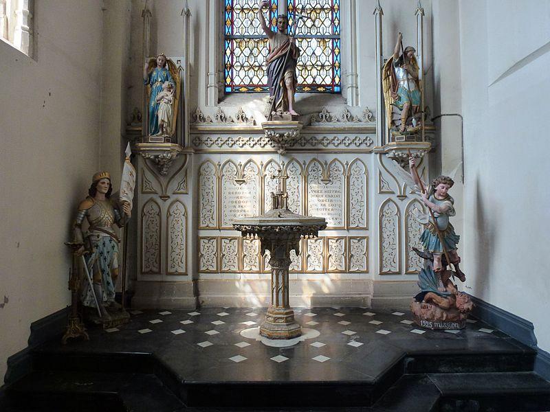Auchy-lez-Orchies (Nord, Fr) église, baptistère