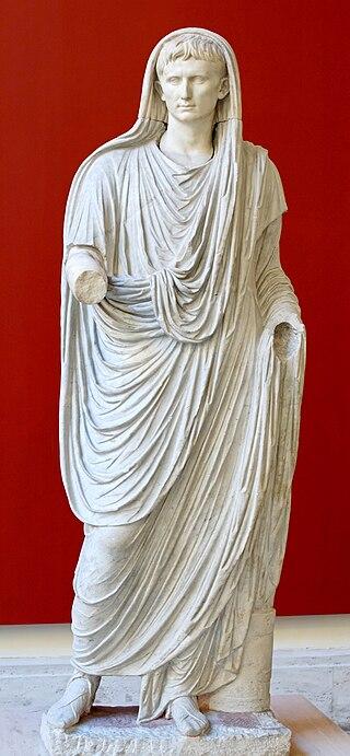 Octavianus Augustus as pagan Pontifex Maximus