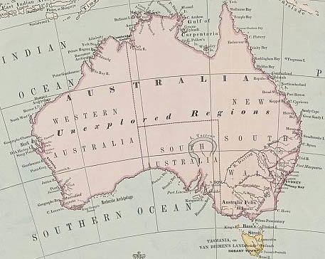 Australia map 1863