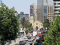 Avenida Vitacura -comienzo y catedral castrense de Los Leones f01.jpg