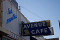 Avenue Cafe sign - SXSW08 Music Day 1 - Las Manitas.jpg