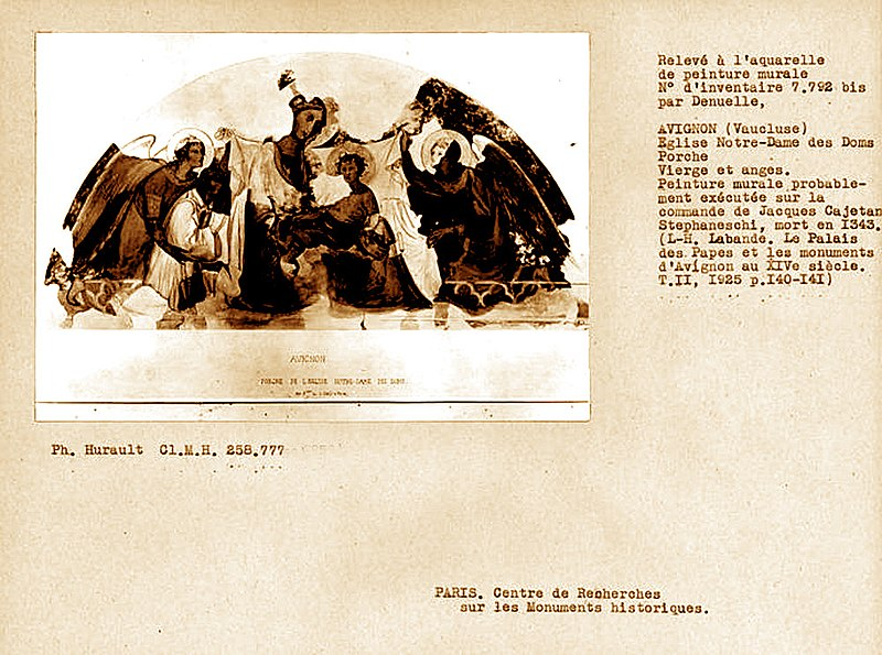File:Avignon Porche de Notre-Dame des Doms fresque de Simone Martini.jpg