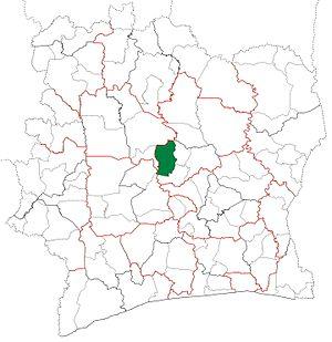 Béoumi Department - Image: Béoumi Department locator map Côte d'Ivoire