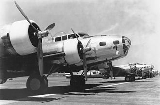 Boeing B-17 Flying Fortress - B-17Bs at March Field, California, prior to attack on Pearl Harbor, with framed nose glazing of the style retained through the B-17E model