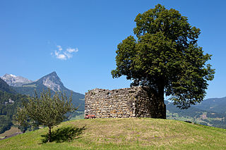 castle ruin in the municipality of Giswil in the canton of Obwalden in Switzerland