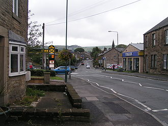 B5470 road - B5470 at Chapel-en-le-Frith