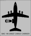 BAe 146-200QT top-view silhouette.png