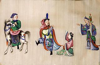 Oriental Scene with Four Figures