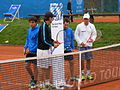BMW Open exhibition match Haas and Spengler vs Kohlschreiber and Glock 2.JPG