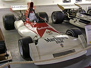 A BRM P160 Formula One car of 1971. In the Don...