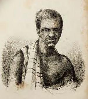 Dutch–Ahanta War - Image: Badu Bonsu II in Douchez (1839)