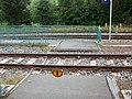 Bahnhof Thalheim (Erzgeb), gesperrter Übergang während des Streckenumbaus ab 2019.jpg