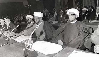Abdul Amir al-Jamri - The religious block in Parliament. Sheikh Abdul Amir al-Jamri is on the right