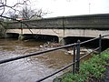 Baildon Bridge and River Aire after heavy rainfall - off Otley Road - geograph.org.uk - 1593891.jpg
