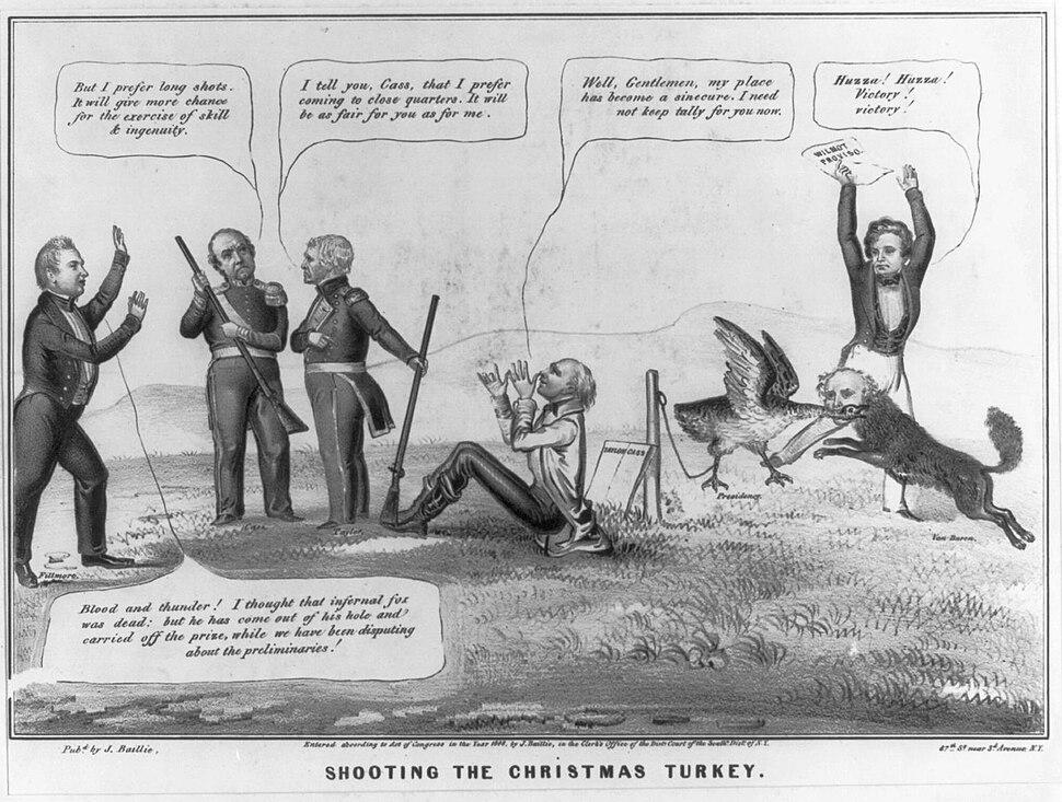 Baillie's 'Shooting the Christmas turkey' cartoon of 1848 US Presidential election
