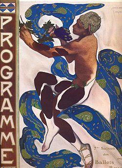 Леон Бакст. Эскиз костюма к балету Нижинского «Послеполуденный отдых фавна» (1912)